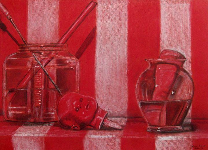 Red Still Life - Blanca Estrada B.E. Art
