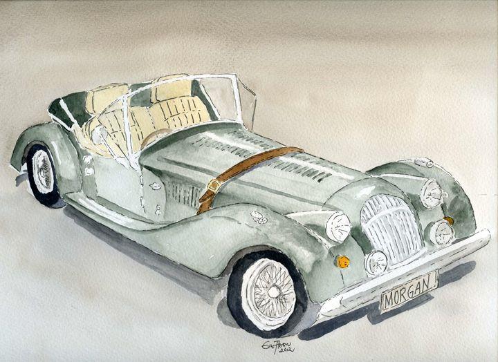 Morgan Sports Car - Eva Asons Art