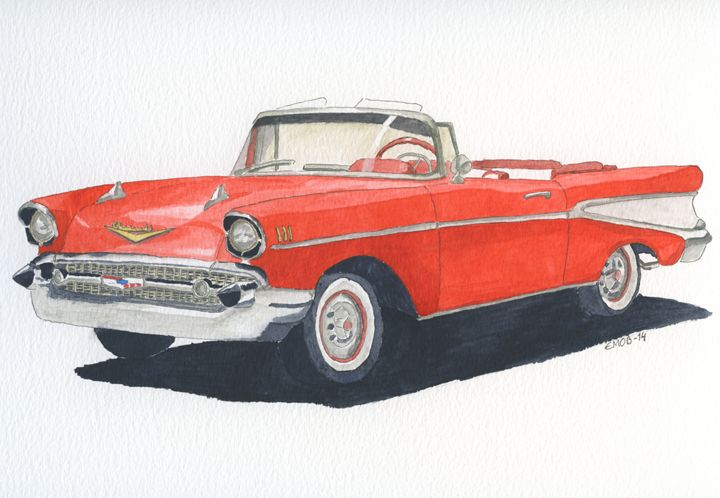 Chevy Bel Air Cabriolet 1957 - Eva Asons Art