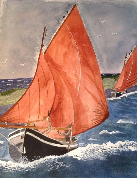Galway Hooker - sail boat - Eva Asons Art
