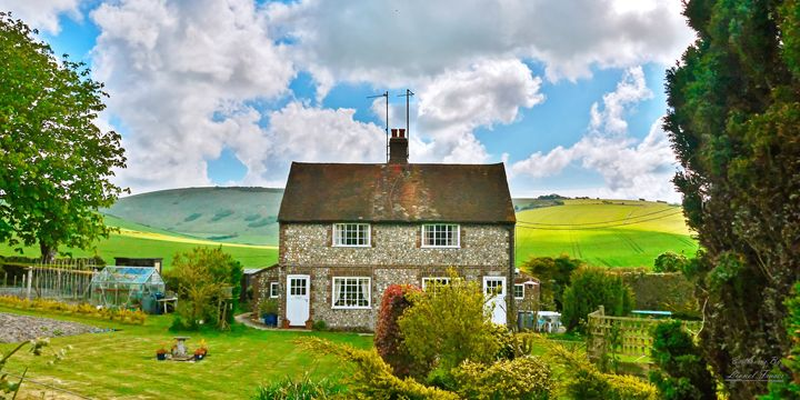 Chocolate Box House - Lionel Fraser, Pictures of Eastbourne, England