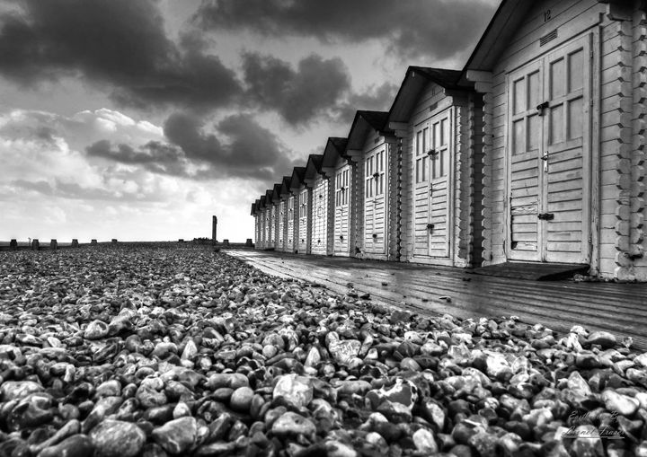 Beach Huts Eastbourne HDR - Lionel Fraser, Pictures of Eastbourne, England