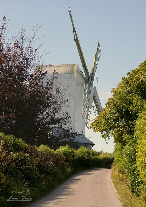 Countryside Windmill - Lionel Fraser, Pictures of Eastbourne, England