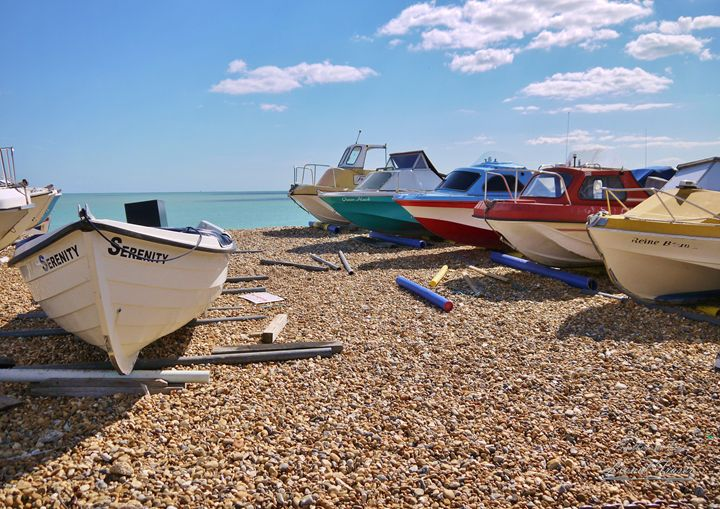 Serenity Fishing Boats - Lionel Fraser, Pictures of Eastbourne, England