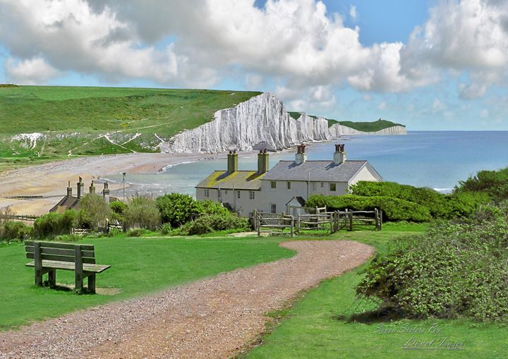 The Seven Sisters - Lionel Fraser, Pictures of Eastbourne, England