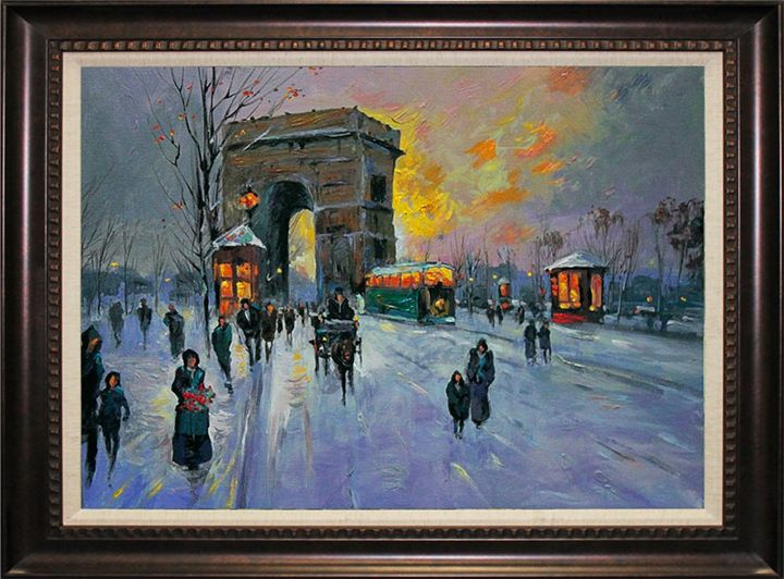 Wintery Night in Paris - Ocean View Antiques, Artefacts and Artwork