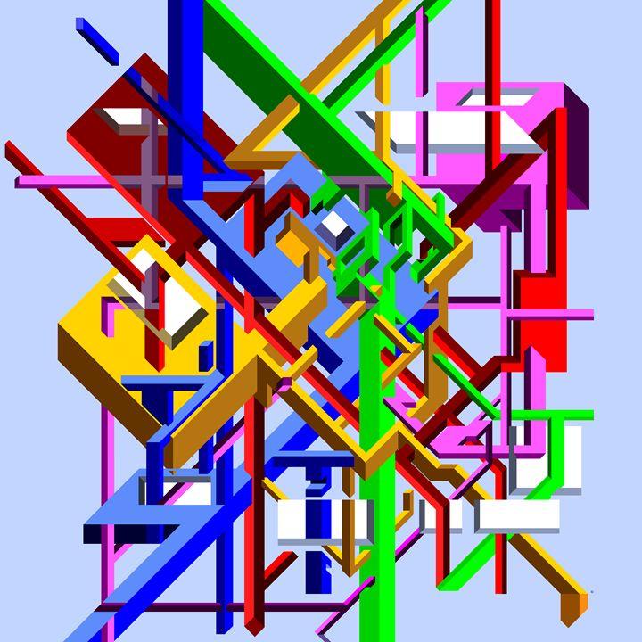 Crossing beams illusion - Ely Greenhut
