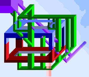 Running beams illusion - Ely Greenhut