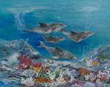 30 x 24 dolphin painting