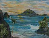 30 x 24 island painting