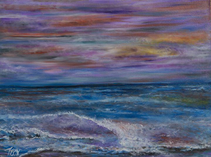 Modern sunset - Tyson environmental art