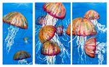 Jelly fish triple painting