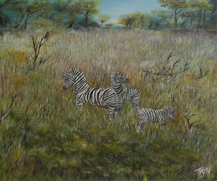 Zebra gathering - Tyson environmental art