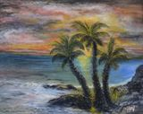 16 x 20 tropical island painting