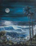 24 x 30 tropical beach painting