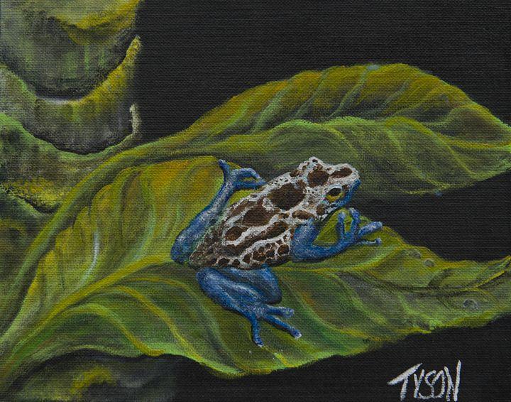 Poison dart frog - Tyson environmental art