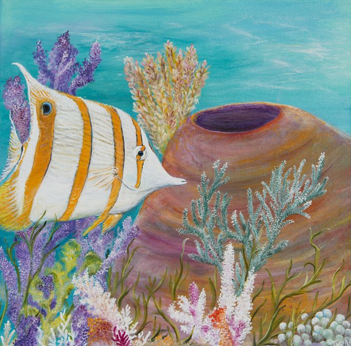 Copper banded butterfly fish - Tyson environmental art