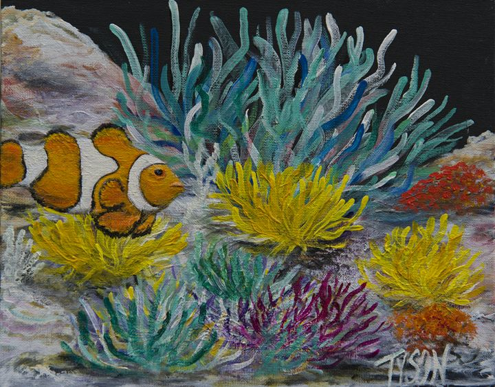 Clown fish - Tyson environmental art
