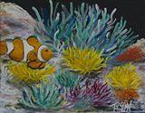 8 x 10 clown fish painting
