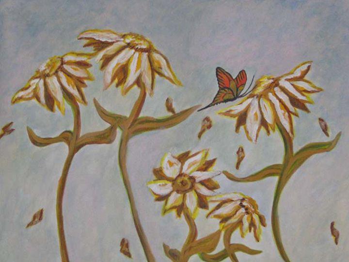 swirling flowers - JoAnn Hunt
