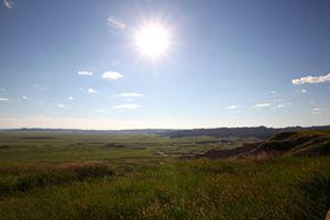 Evening Sun Over the Prairie
