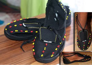 Beaded shoes1