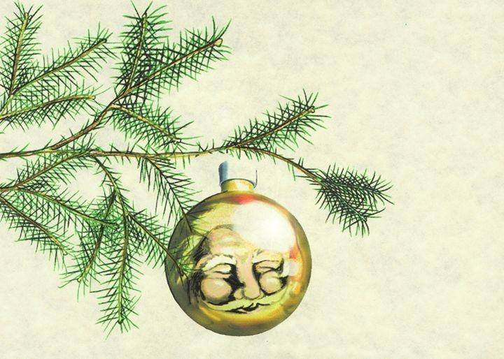 Santa Ornament - Matte Hue Innovations