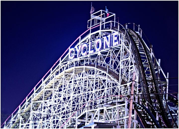 Iconic Cyclone Ride, Coney Island - AllanE Photography