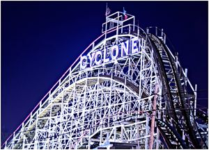 Iconic Cyclone Ride, Coney Island