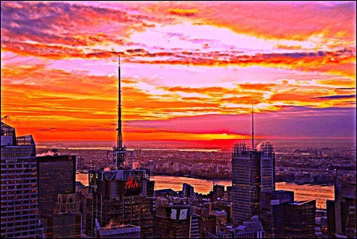 Hudson River Sunset - AllanE Photography