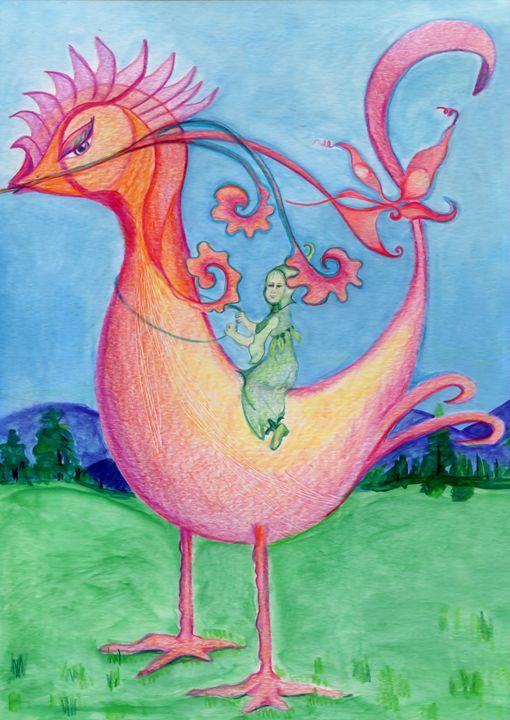 Bird Ride - Lucretia's Mythic World