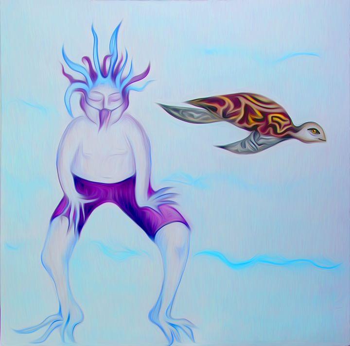 Frog Boy and Turtle - Lucretia's Mythic World