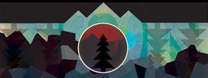 Moonset Mountains #1