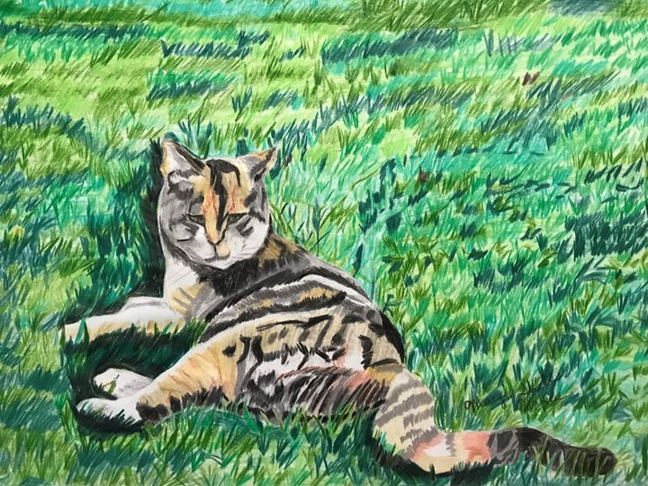 Smirking  Cat - Margie Shields McKee