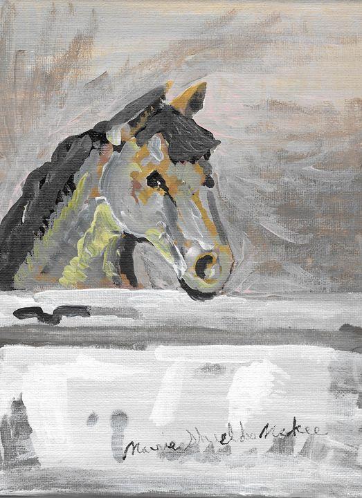 Horse In Stable - Margie Shields McKee
