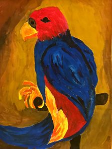 Parrot in Watercolor