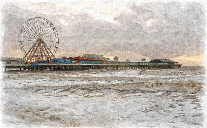 Central Pier Blackpool in Oils - David Hughes