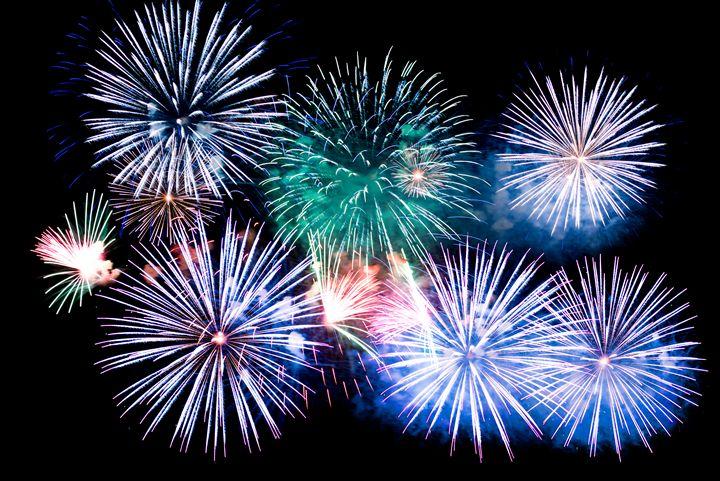Colorful explosions of festive firew - Dobrydnev