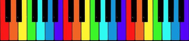 Rainbow piano keys - Dobrydnev