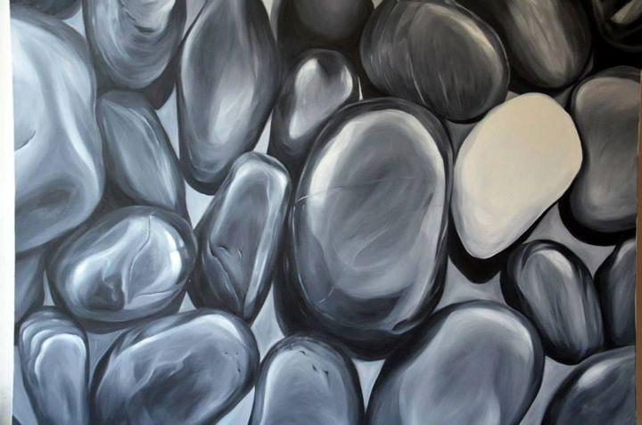 Black and white stones - Art Pavlina Spasova