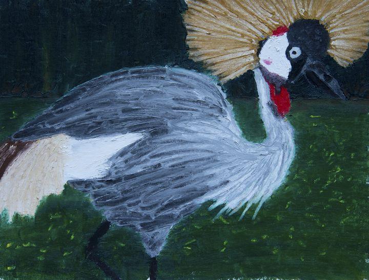 Crowned Crane - J Tuttle Art