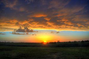 Turbulent Sunset