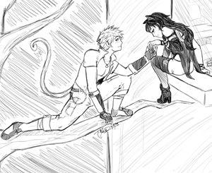 BlackSun- Balcony scene (sketch)