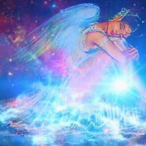 sleeping angel in heaven