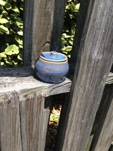 Summer Sky Blue Lidded Container