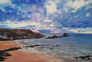 """Atlantico"" oil painting on canvas"