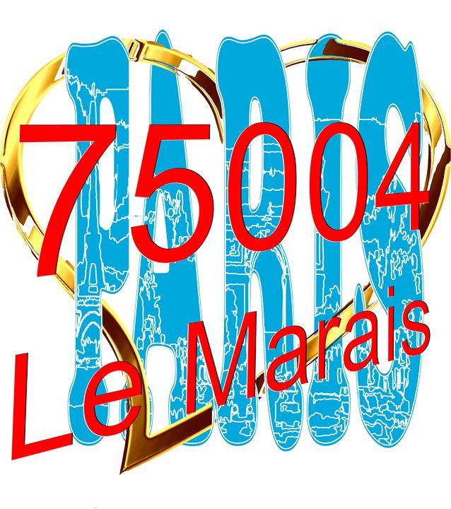Le Marais in Paris - digitalart Rob Elfferich