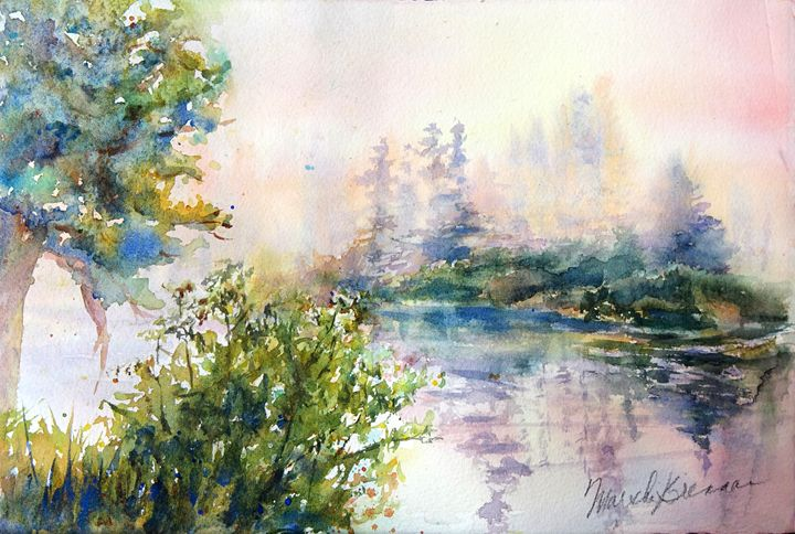 Morning Mists - MB Watercolors