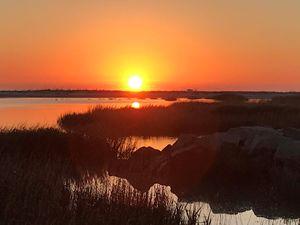 Morning on Mitchelleville beach, SC