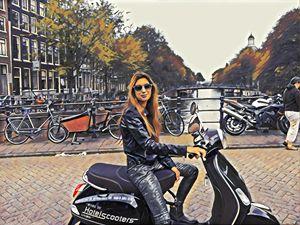 Helmetless in amsterdam